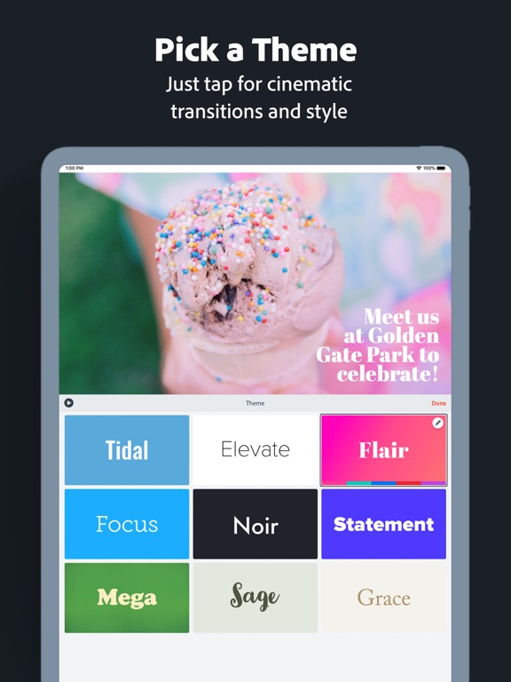 Adobe Spark Video Screenshot 5