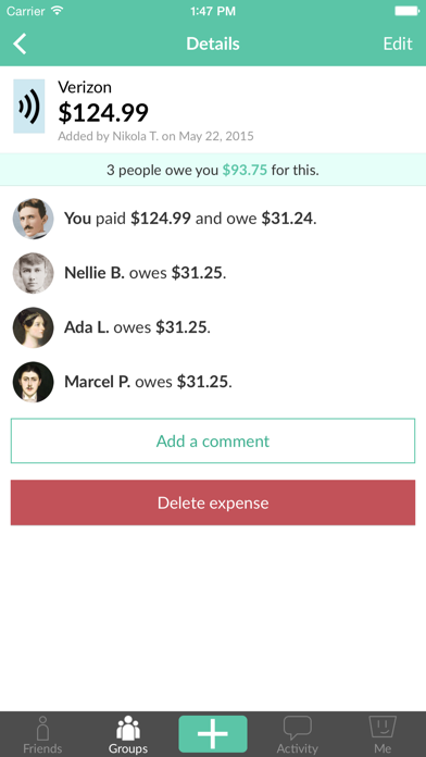 Screenshot for Splitwise in United States App Store