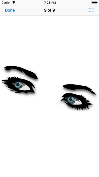 Shapely Eyebrow Stickers screenshot-9