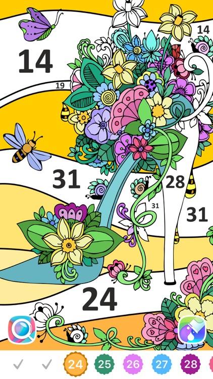 Color by Number, Coloring Book screenshot-7