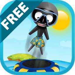 Stickman Water Trampoline FREE - Flipping Summer!