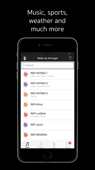 Rádio de Portugal Screenshot on iOS