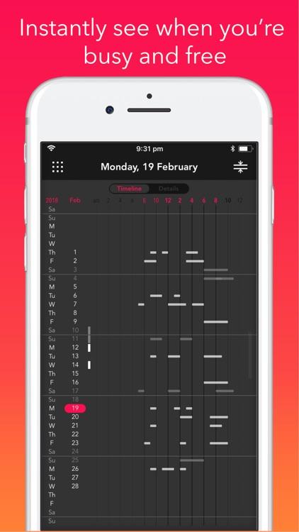 Rooster: Calendar screenshot-5