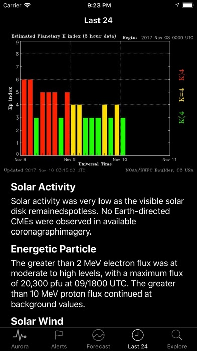 Space Weather App Screenshots
