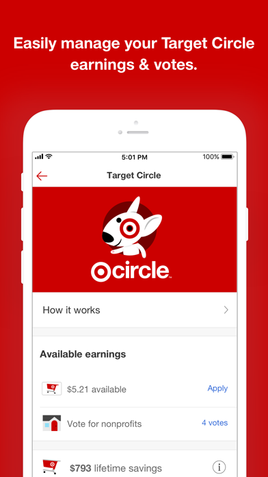 Target Screenshot on iOS