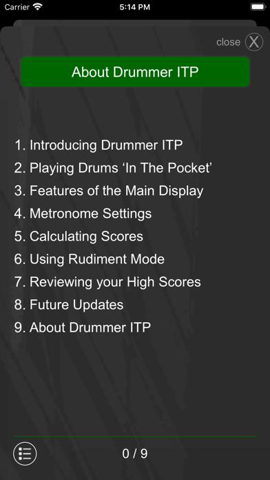 Drummer ITP - Rudiment Trainer