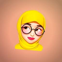 Hijab Girl Stickers