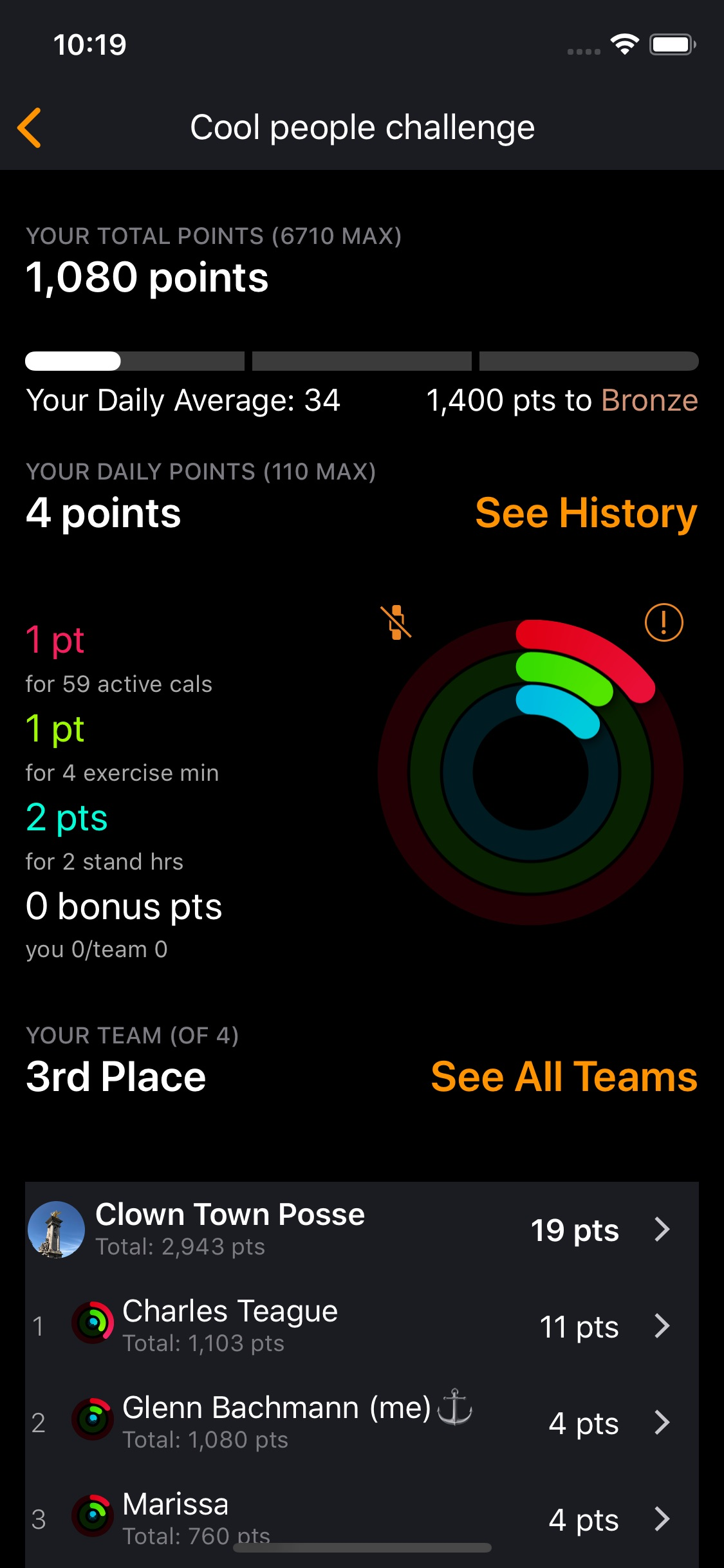 Screenshot do app Challenges - Compete, Get Fit