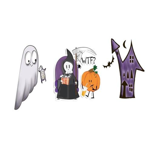 Haunted Halloween Funny Emojis