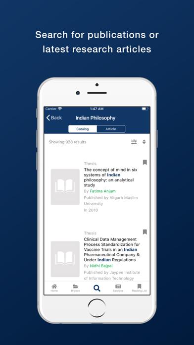 Bennett University Library screenshot 5