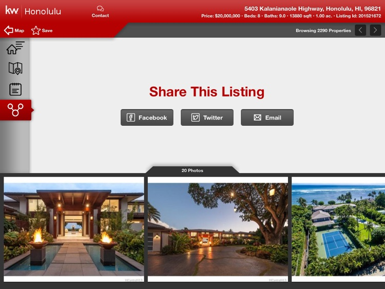 KW Real Estate Search for iPad screenshot-3