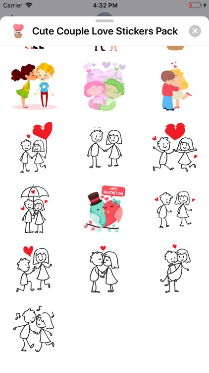 Cute Couple Love Stickers Pack