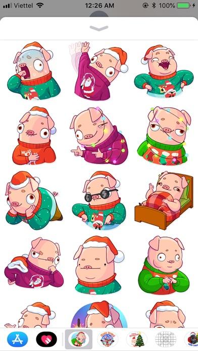 Christmas Piggy Funny Sticker screenshot 3