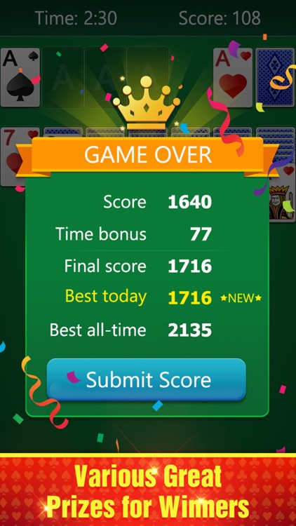 Happy Solitaire Card Game screenshot-4