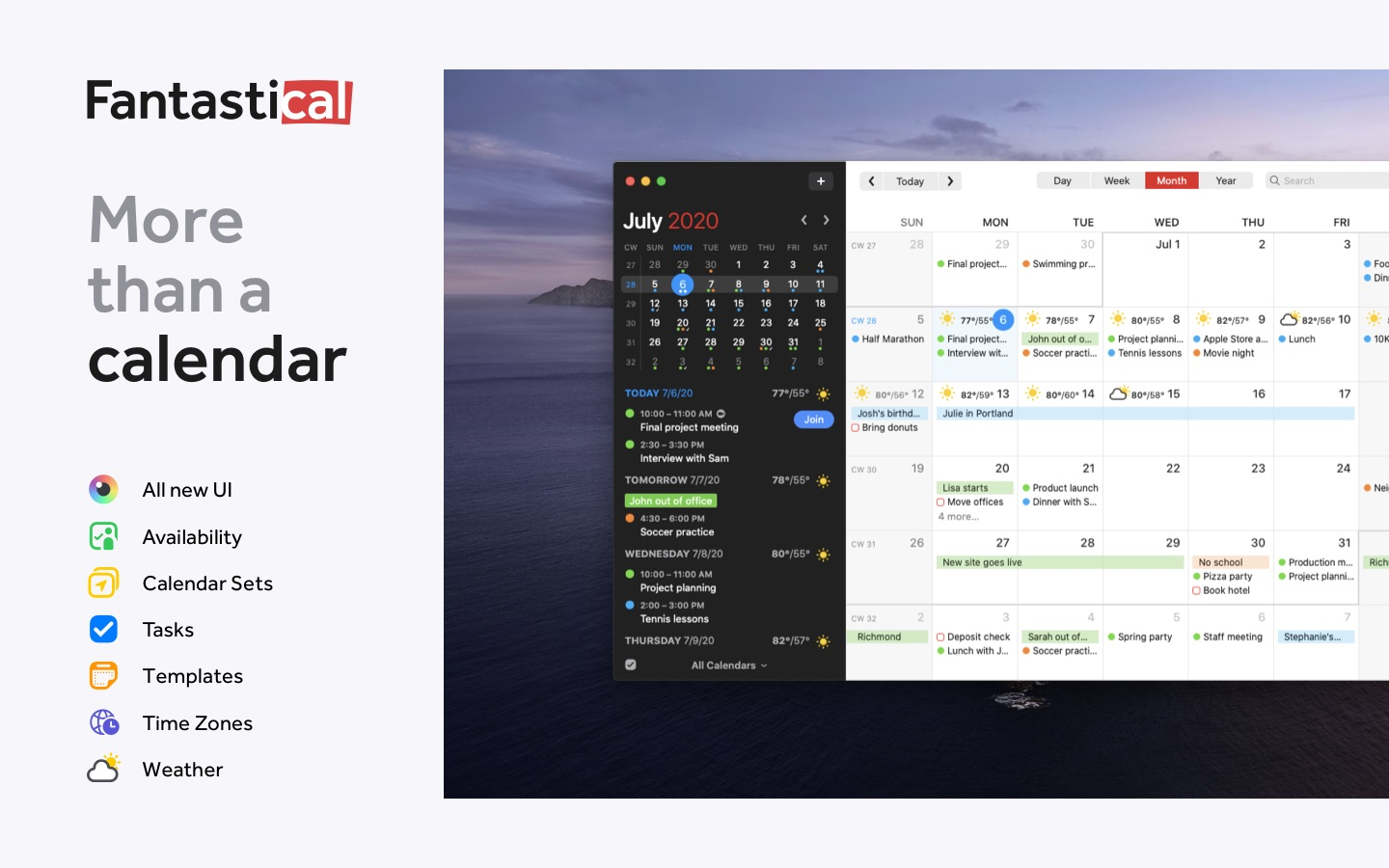 Screenshot do app Fantastical - Calendar & Tasks