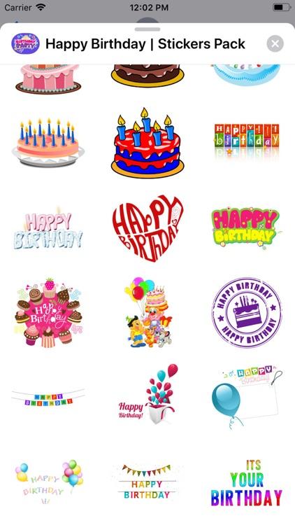 Happy Birthday | Stickers Pack