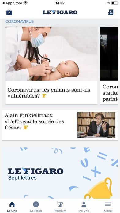 Le Figaro review screenshots