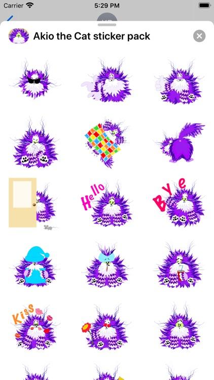 Akio the Cat sticker pack screenshot-3