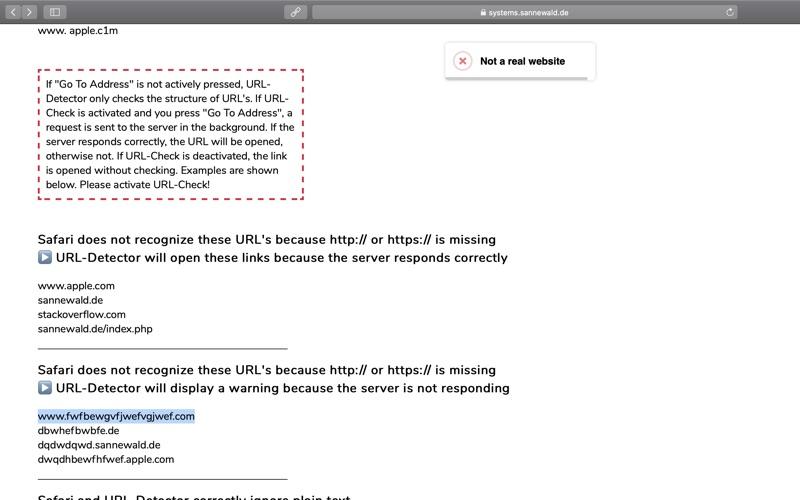 URL-Detector for Safari скриншот программы 4