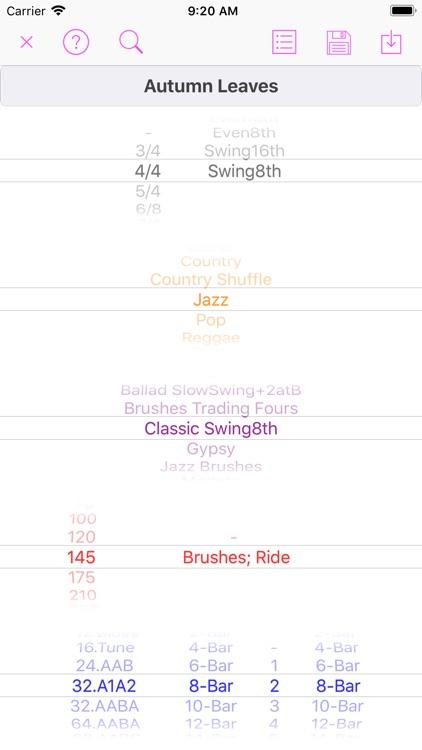 Song Rhythm Tracks