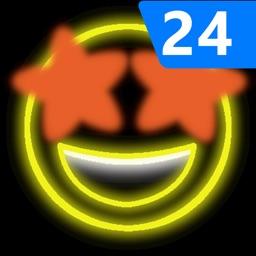 Neon Emoji iStickers 24