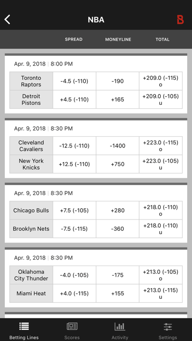 Bovada Bet Tracker screenshot two