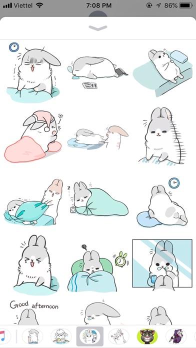 Rabbit Moji Pun Funny Stickers screenshot 2