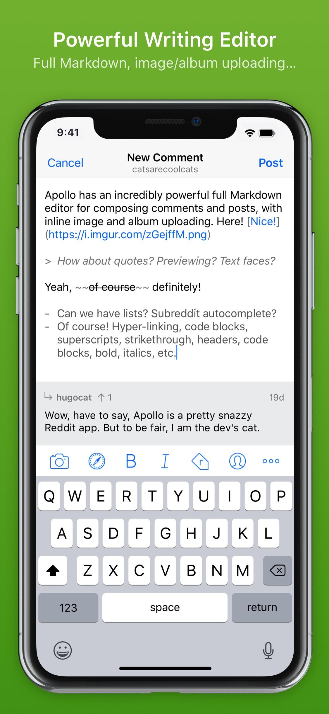 Screenshot do app Apollo for Reddit