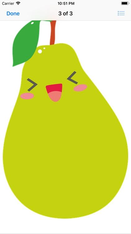 Happy Fruit Stickers screenshot-3