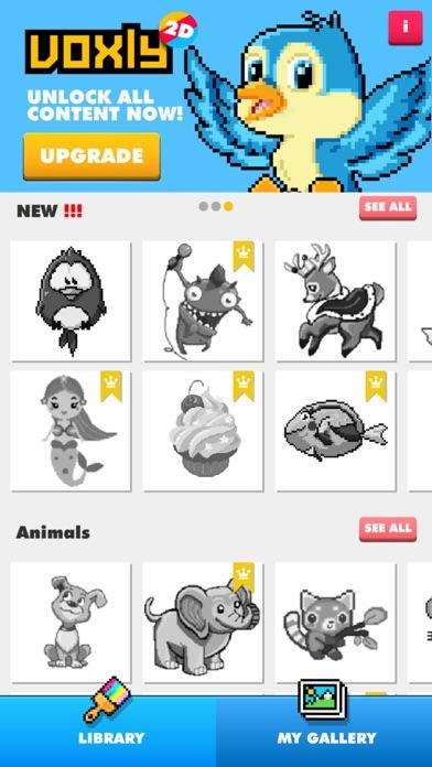 Color by number - Unicorns Art Screenshot