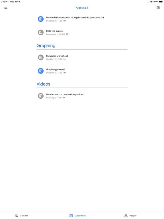 Screenshot #2 for Google Classroom