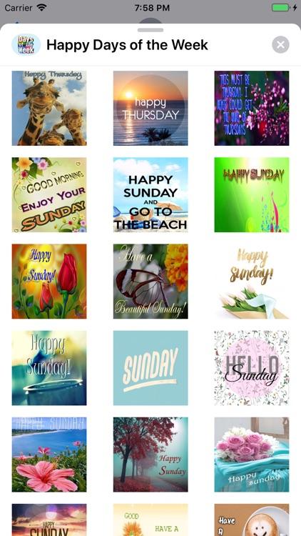 Happy Days of the Week Wishes screenshot-8