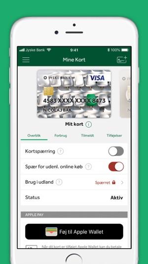 jyske bank kortspærring