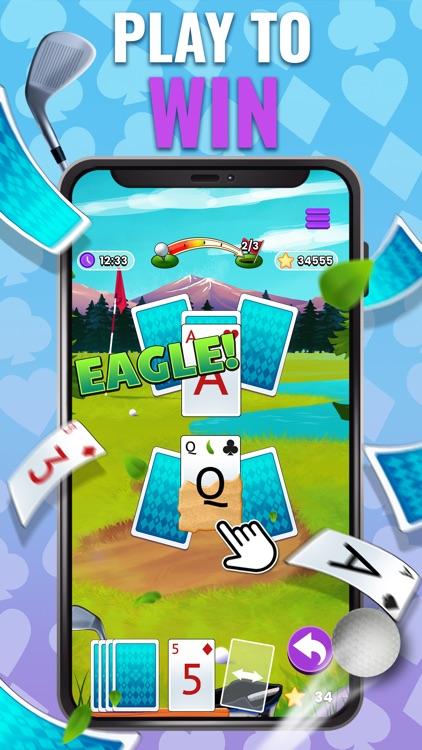 Golf Solitaire TriPeaks Cards! screenshot-3