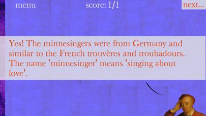 Music History Flashcards Screenshots