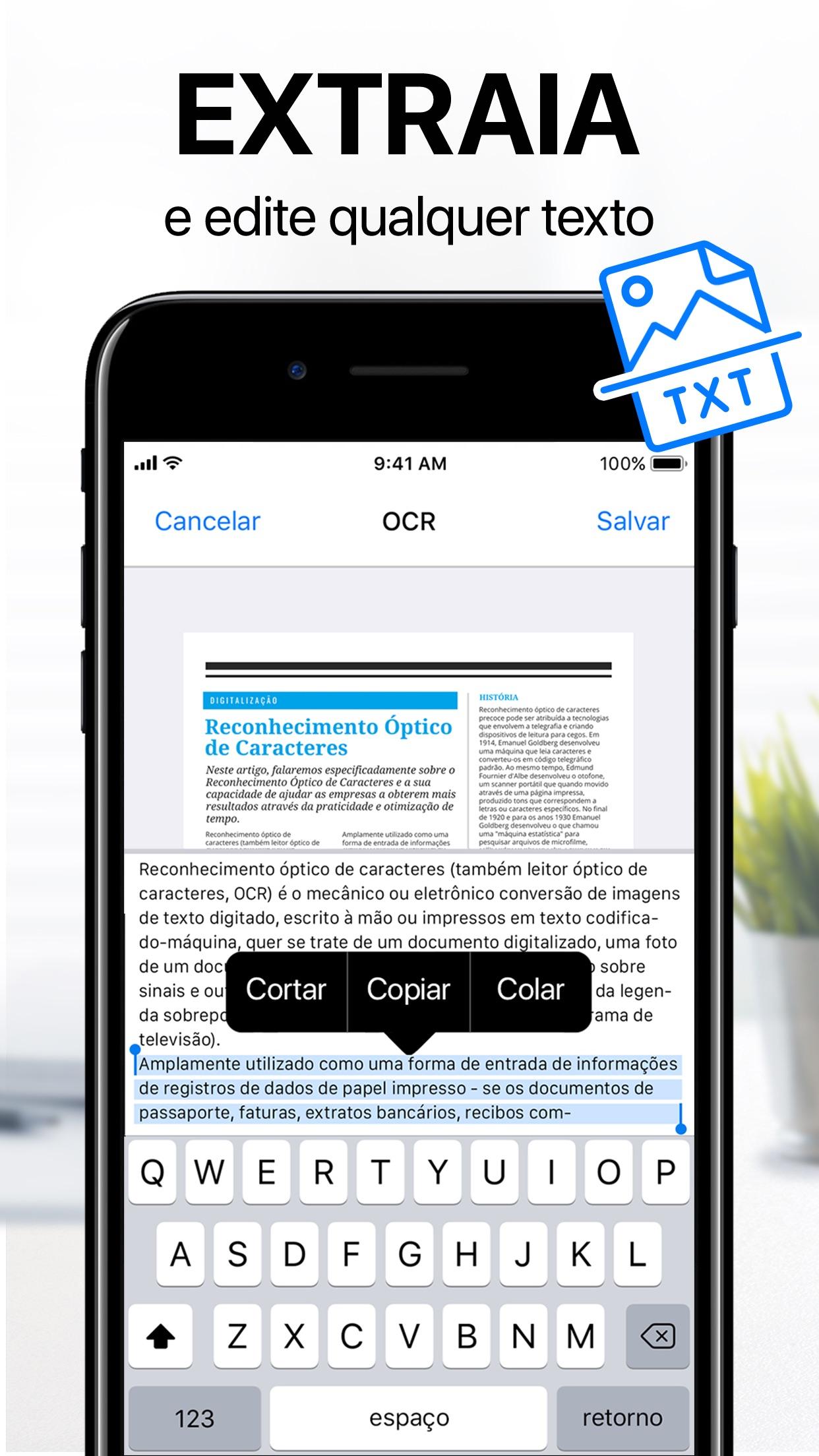 Screenshot do app iScanner - Digitalizador PDF