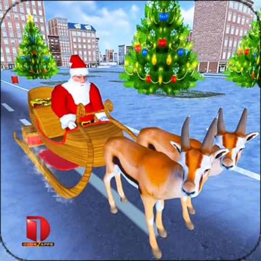 Christmas Santa Rush Gift Delivery