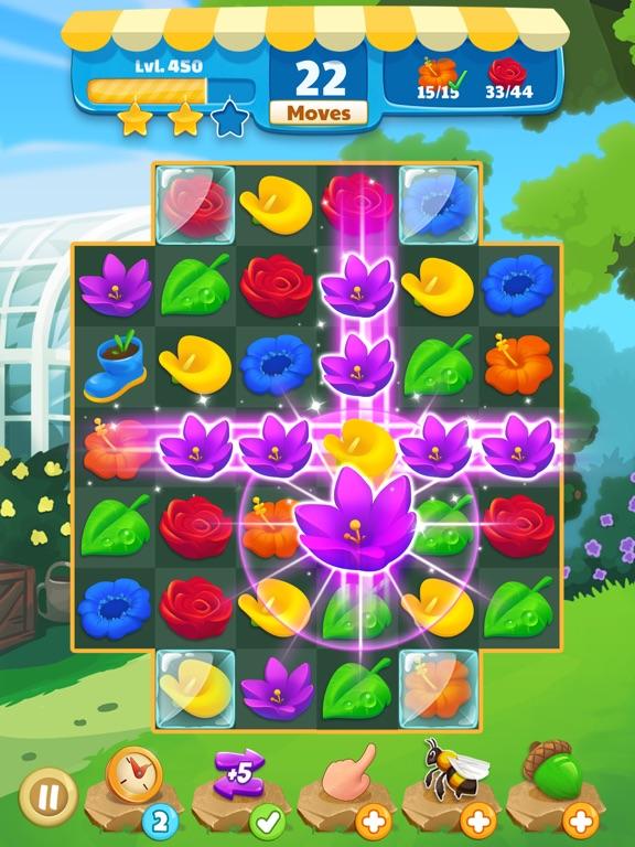 Flower Legends Match 3 screenshot 6
