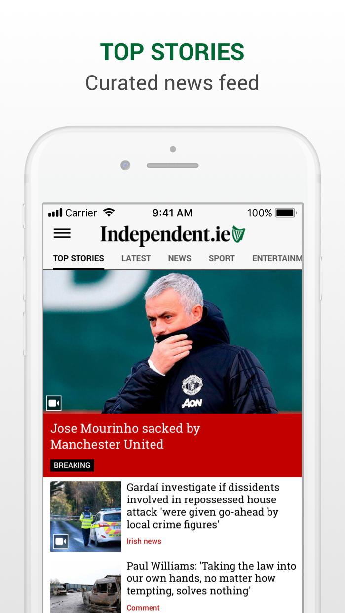 Irish Independent News Screenshot