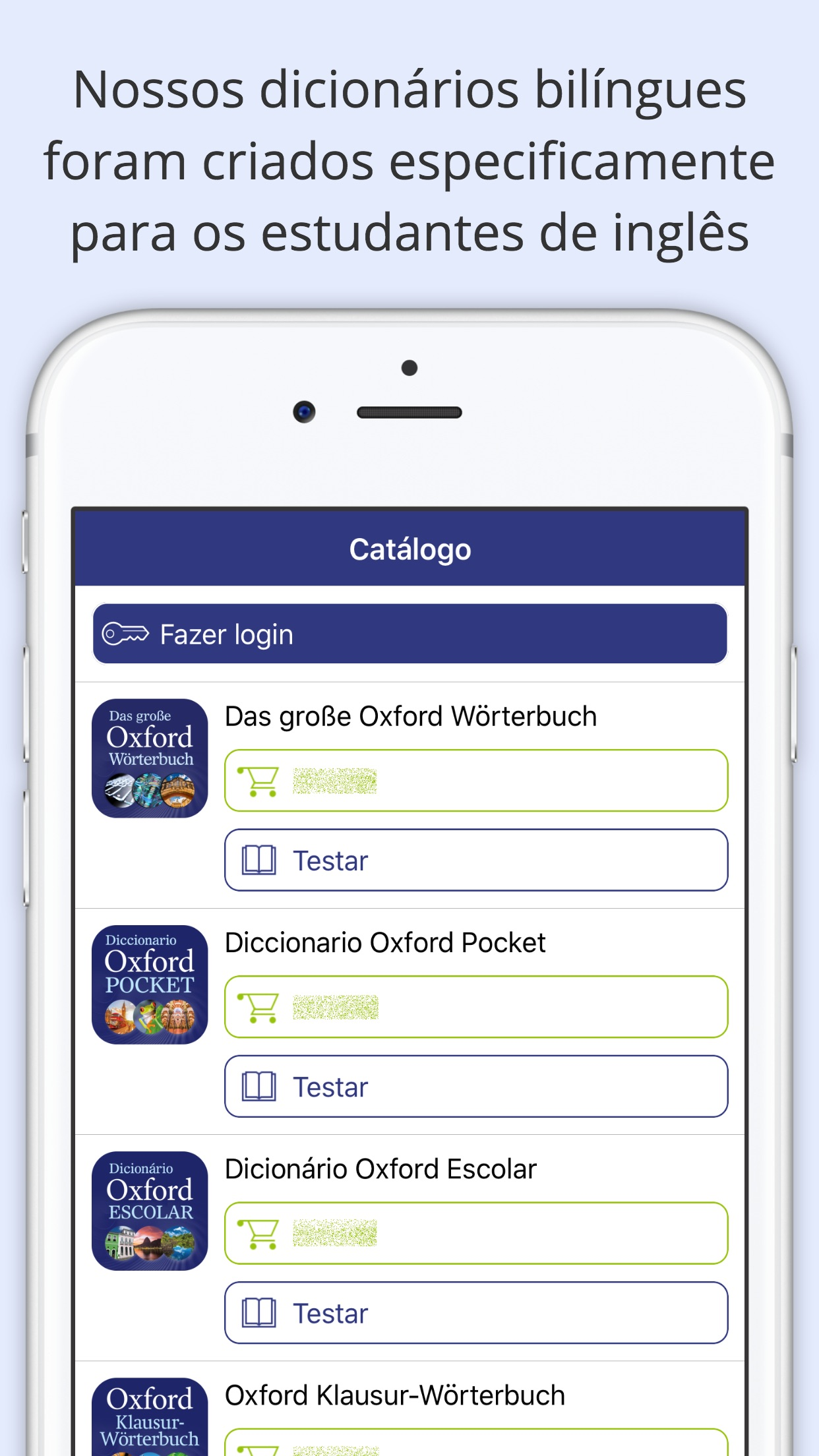 Screenshot do app Oxford Learner's Dictionaries