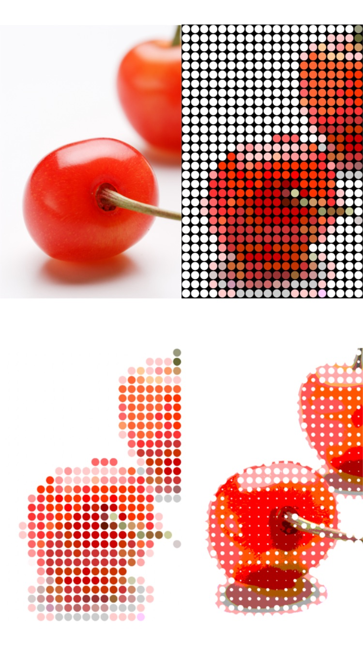 dot ART - Mosaikeffekte app Screenshot