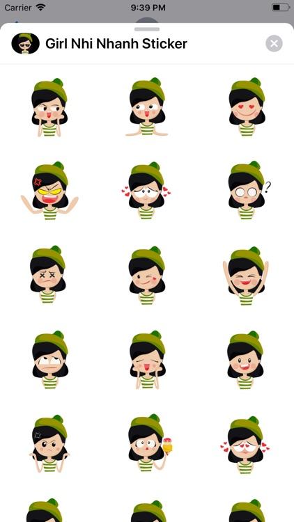 Girl Nhi Nhanh Sticker
