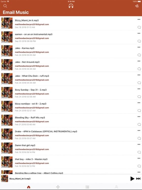 Email Music screenshot 3