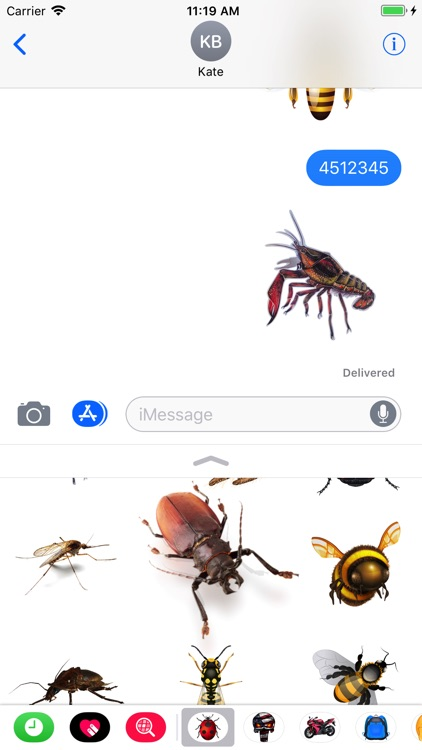 Great Insects Stickers screenshot-4