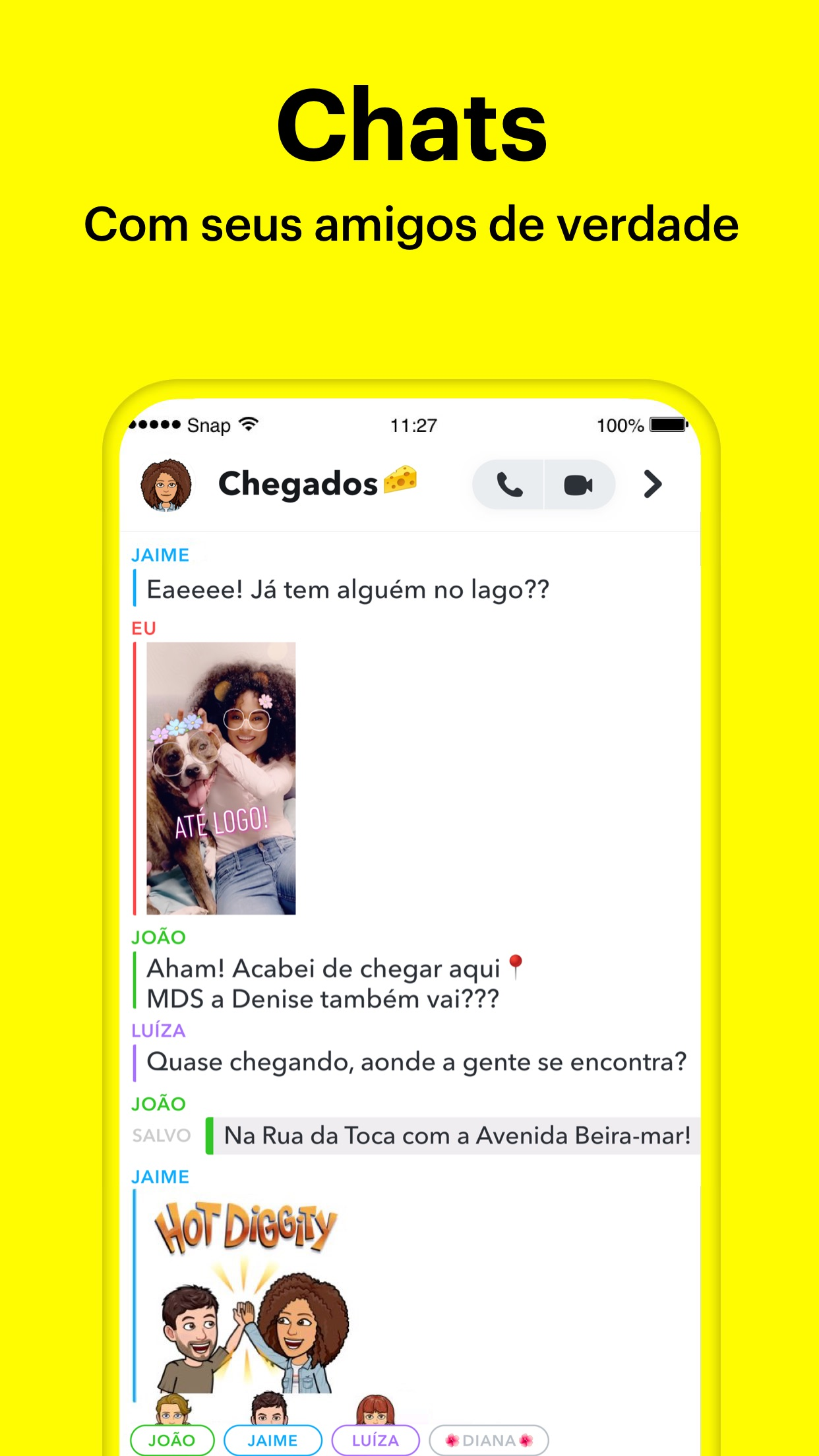 Screenshot do app Snapchat