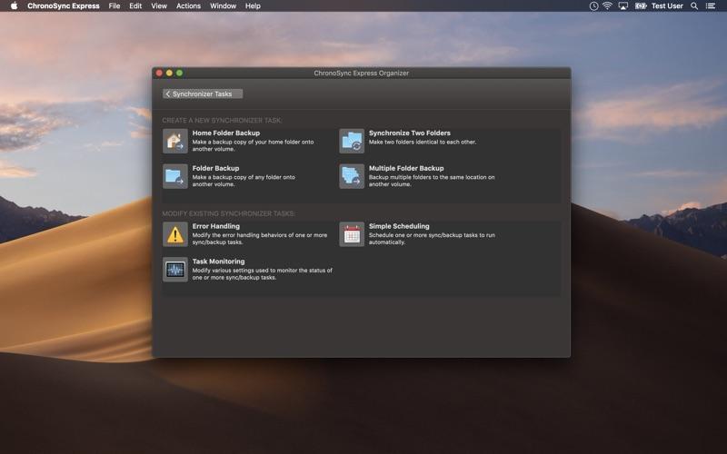 ChronoSync Express скриншот программы 2