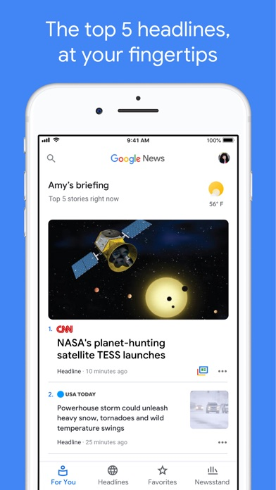 Screenshot #6 for Google News