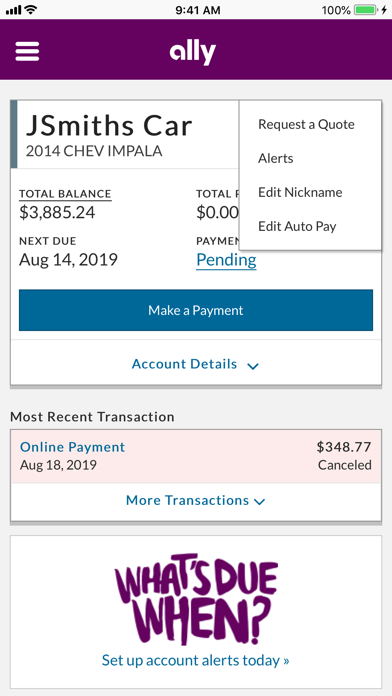 Ally Financial Payoff >> Ally Auto Mobile Pay Revenue Download Estimates Apple App