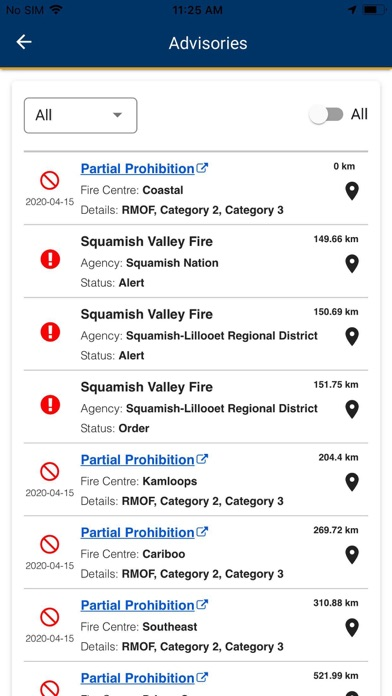 BC Wildfire Service screenshot 5