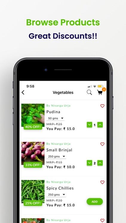 Nisarga Urja - Online Grocery screenshot-5